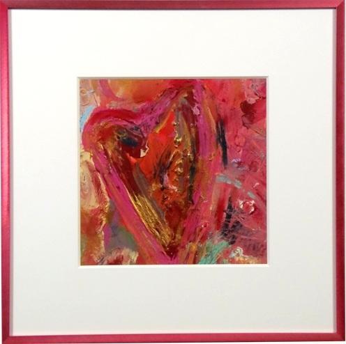 """Acrylic on paper, """"Love"""" by Caryn Landauer"""