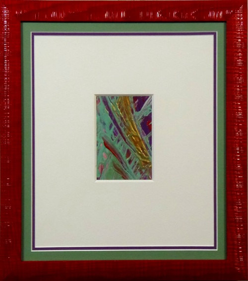 "Acrylic on paper, ""As Was Before II"" by Caryn Landauer"